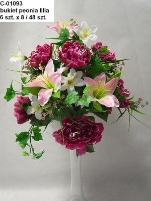 bukiet peonia lilia