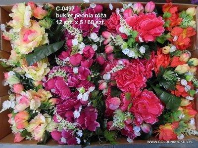 bukiet peonia róża