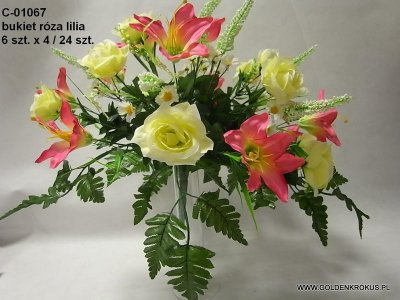 bukiet róza lilia