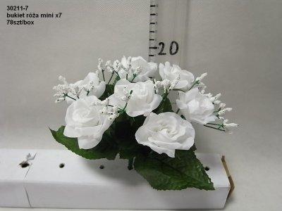 bukiet róża mini x 7