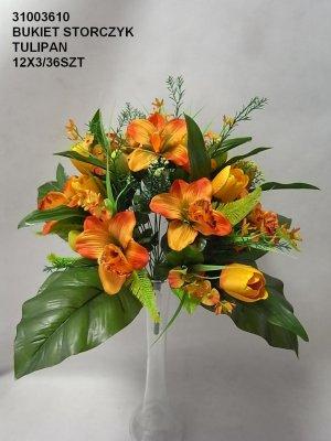 bukiet storczyk tulipan